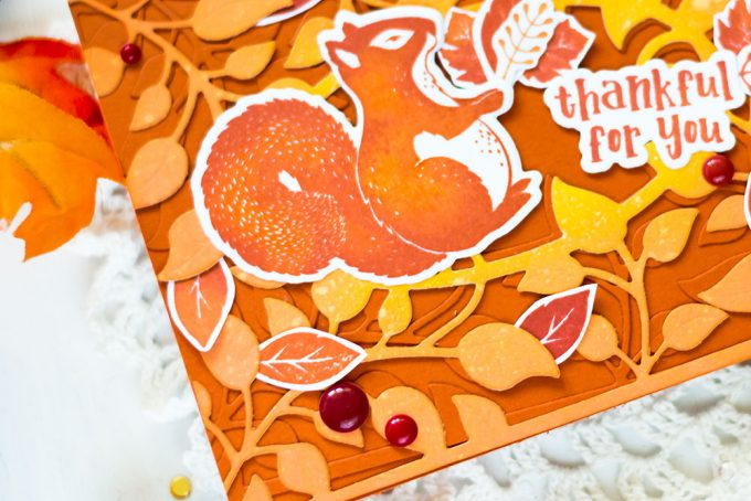 Fall card with Spellbinders Blessings and FSJ Thankful Friends. Card by Svitlana Shayevich