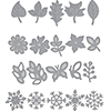 Spellbinders Shapeabilities Wreath Elements Etched Dies Four Seasons