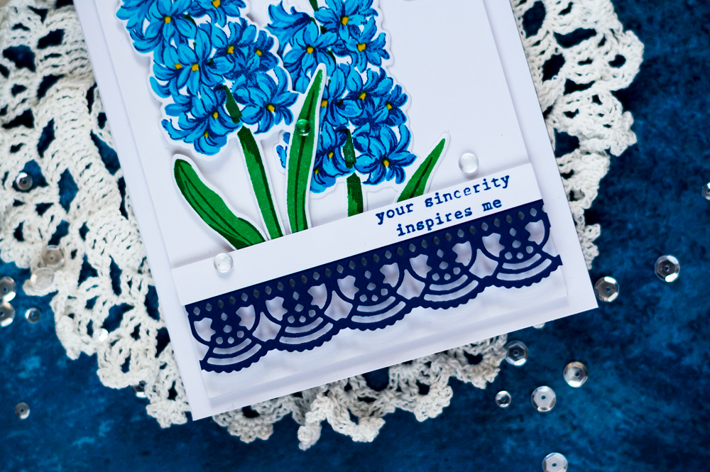 Altenew Build A Flower Hyacinth. Card by Svitlana Shayevich