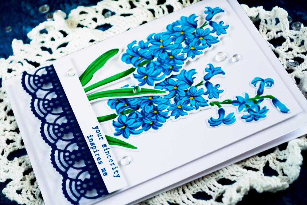 Altenew Build A Flower Hyacinth. Card by Svitlana Shayevich