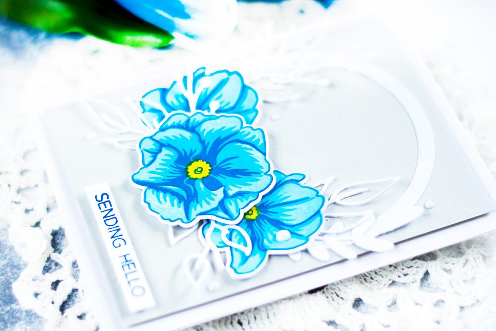 Altenew Delicate Primrose. Card by Svitlana Shayevich