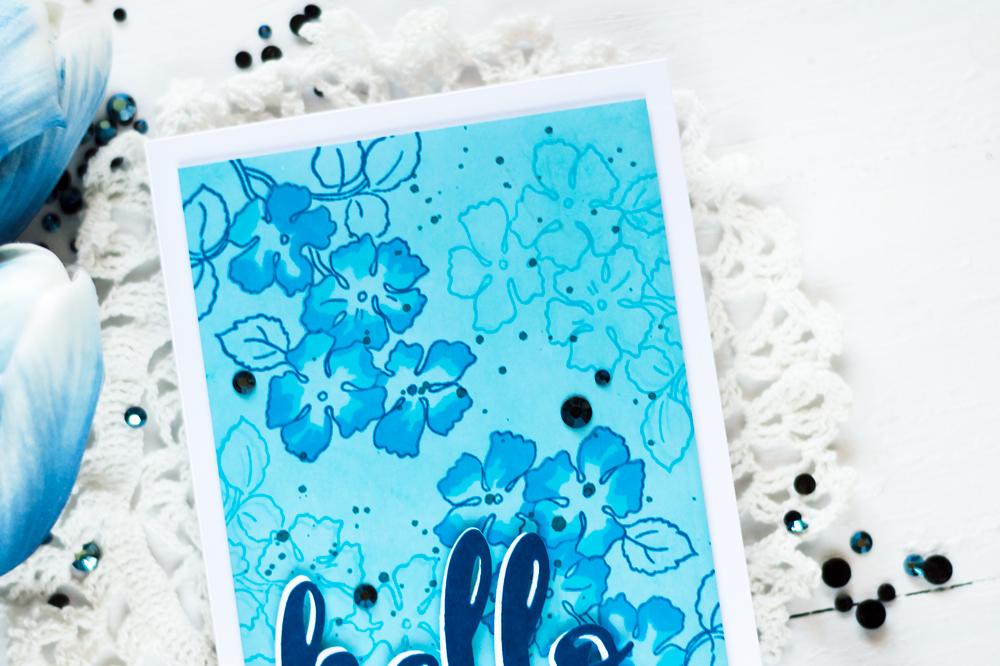 Altenew Ruffled Flowers Stamp Set. Card by Svitlana Shayevich