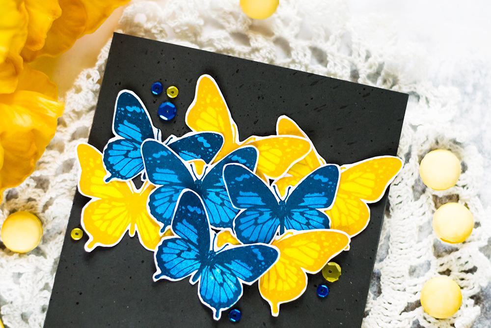 Spellbinders Layered Butterflies. Card by Svitlana Shayevich