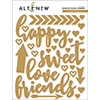 Altenew Sweet Hearts Adhesive Wood Veneers