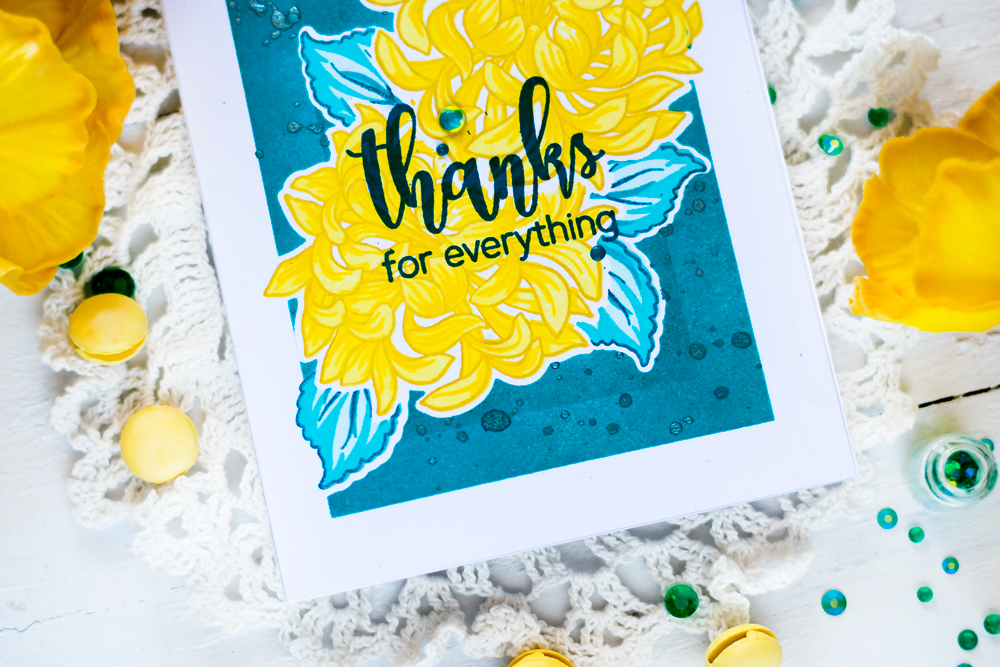 Altenew Bukd-A-Flower Japanese Mum. Card by Svitlana Shayevich