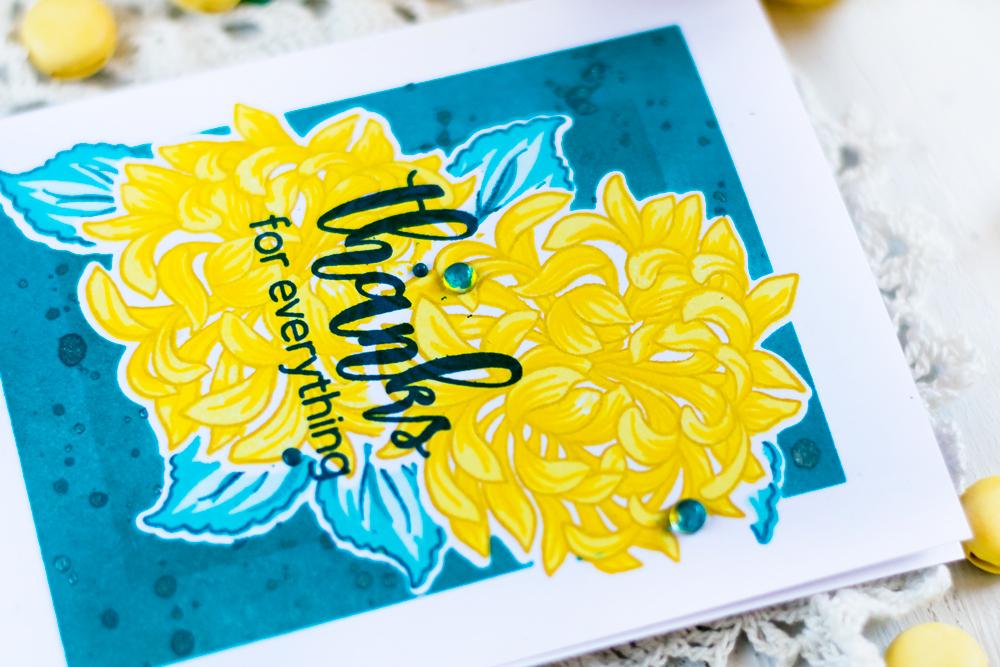 Altenew Bukd-A-Flower Japanese Mum. Card by Svitlana Shayevich