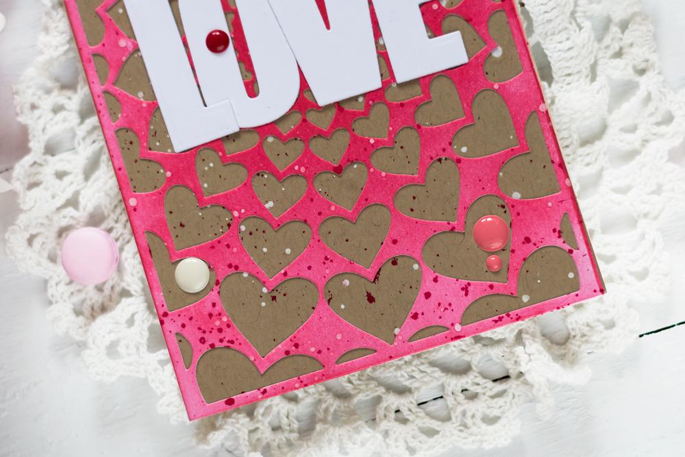 Valentine Card with Altenew Radial Hearts Die. Card by Svitlana Shayevich