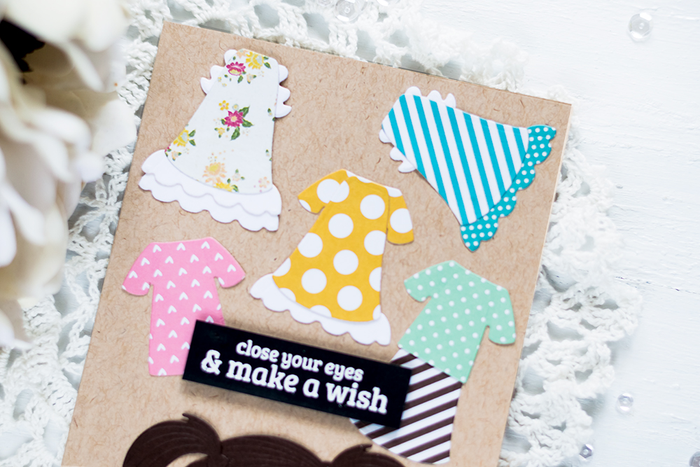 Paper Dolls with Spellbinders Small Die Of The Month First Crush . Card by Svitlana Shayevich