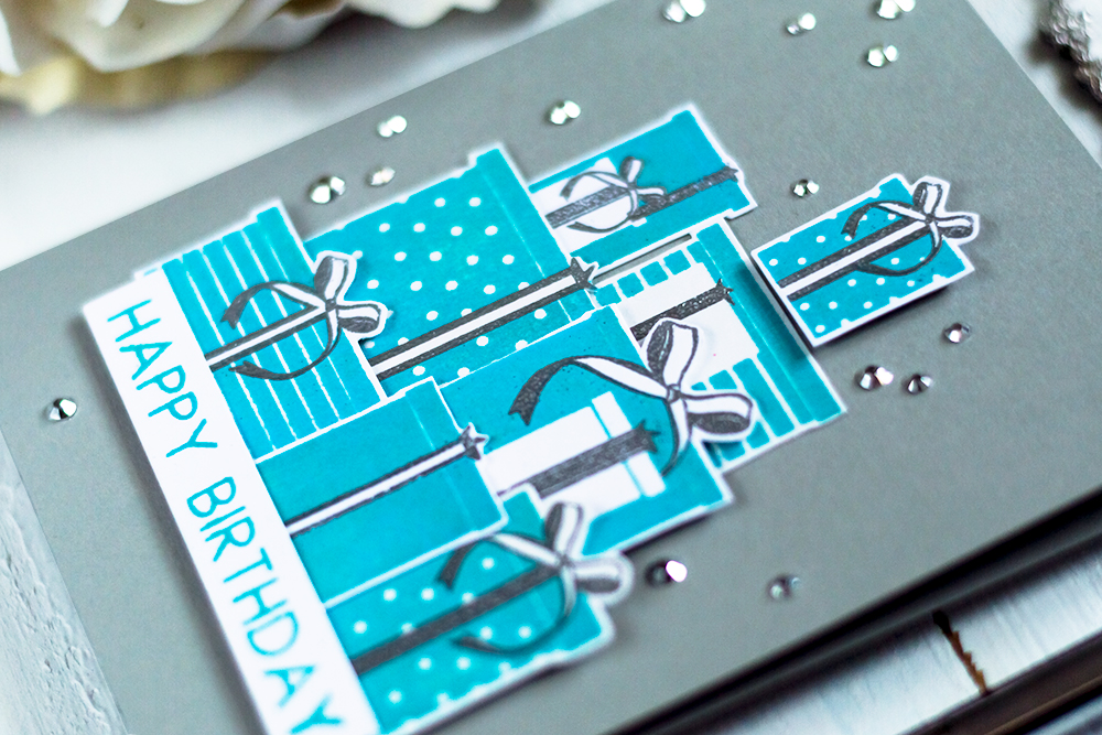 Tiffany inspirad card with The Ton Gifted Stamp Set. Card by Svitlana Shayevich