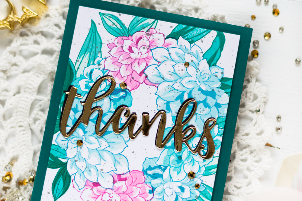 Altenew Build-A-Flower Dahlia. Card by Svitlana Shayevich