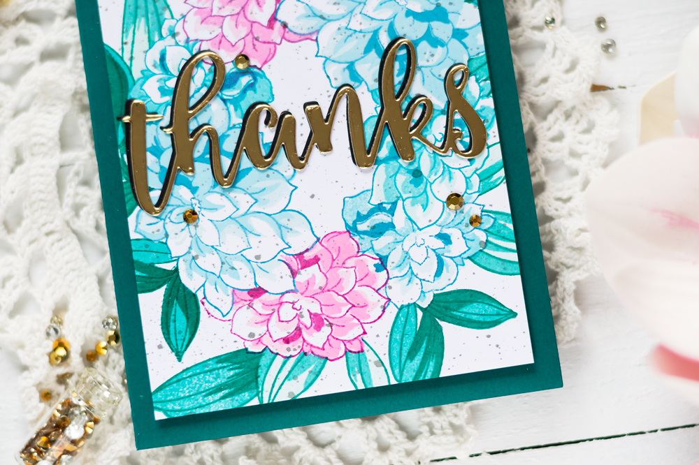 Altenew Build-A-Flower Dahlia. Card by Svitlana Shayevich