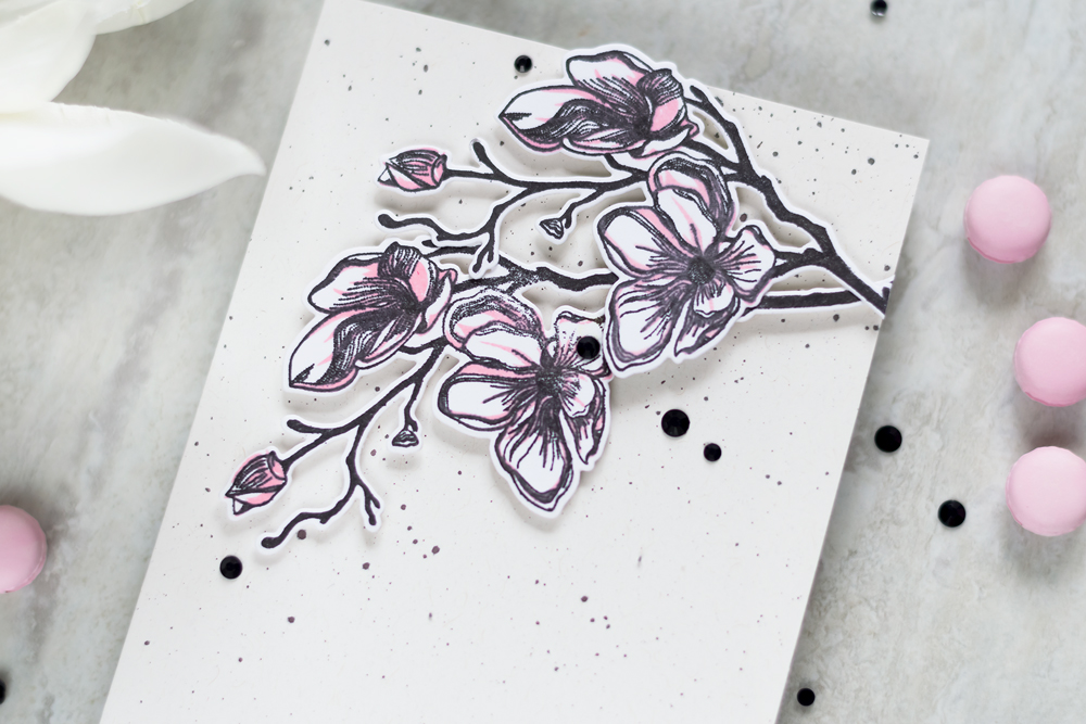 Clean and Simple Card with Altenew Dotted Blooms Stamp Set. Card by Svitlana Shayevich