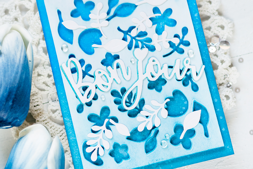 Faux Cover Plate with Spellbinders Large Die Kit. Card by Svitlana Shayevich