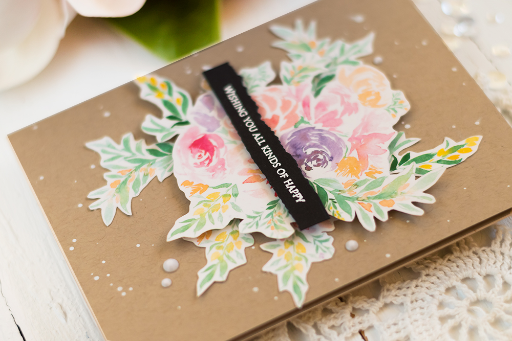 The Ton Wildflowers Washi Tape. Card by Svitlana Shayevich
