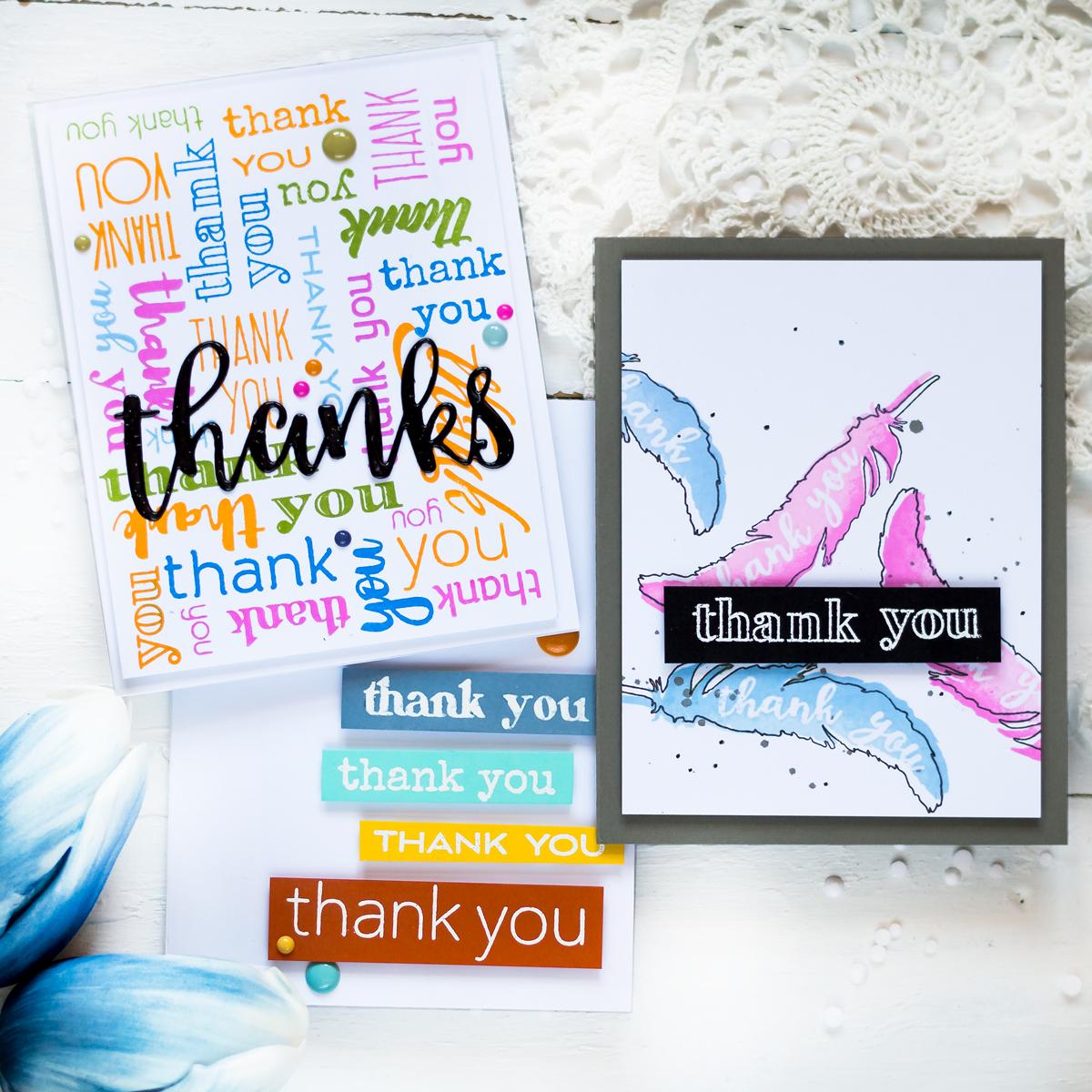 Altenew Thank You Builder Stamp Set. Card by Svitlana Shayevich