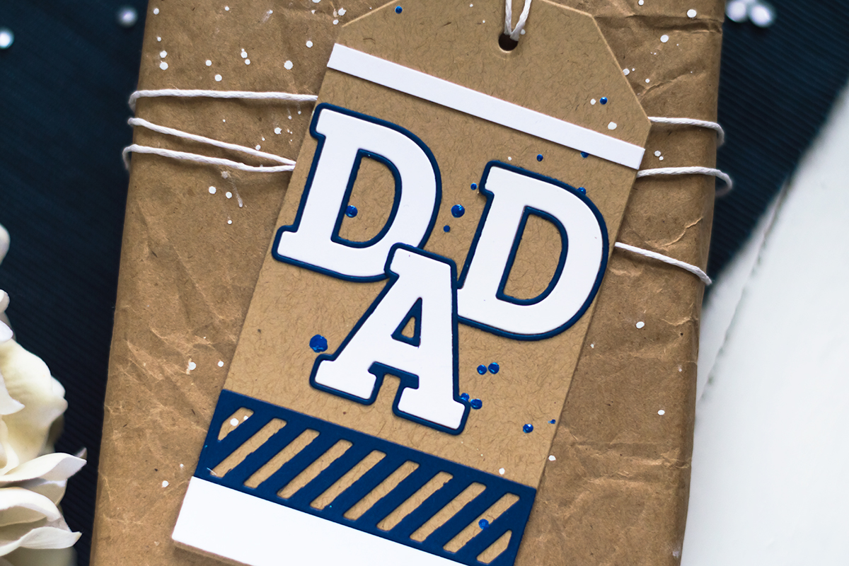 Pinkfresh Studio Father's Day Tag. Card by Svitlana Shayevich