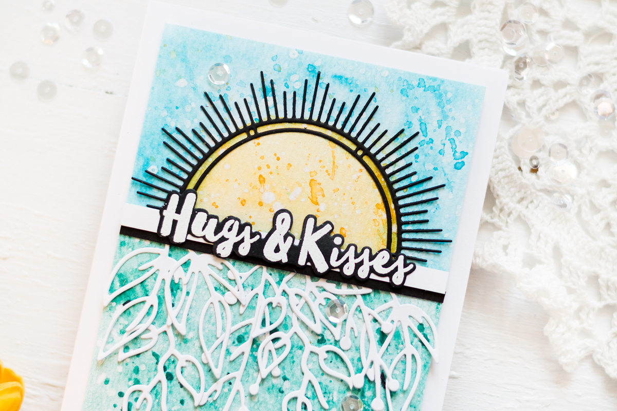 Sunburst Hugs Card. Card by Svitlana Shayevich