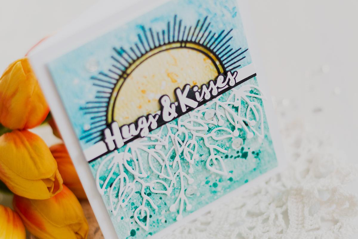 Sunburst Hugs Card. Card by Svitlana Shayevich
