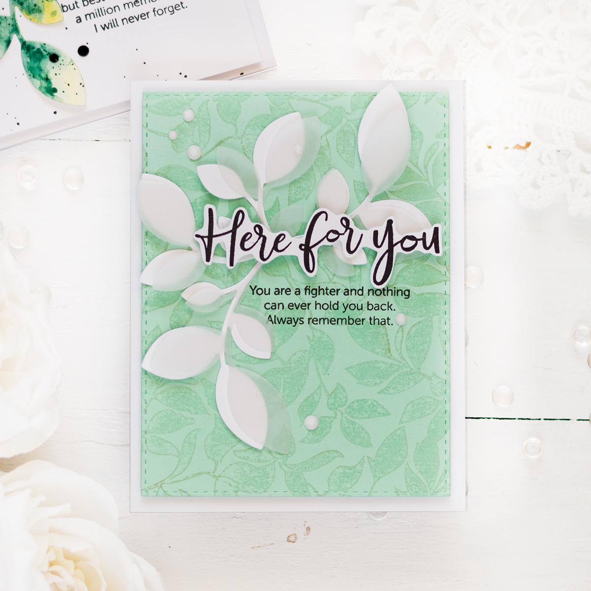 Elegant encouragement card . Card by Svitlana Shayevich