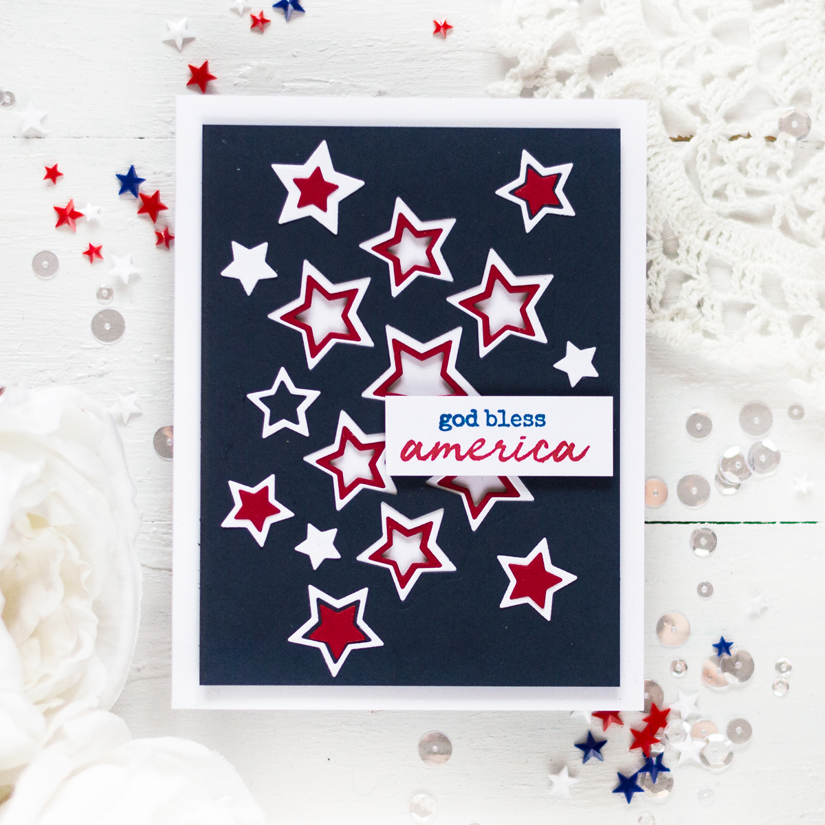 Patriotic Americana $th Of July Card. Card by Svitlana Shayevich