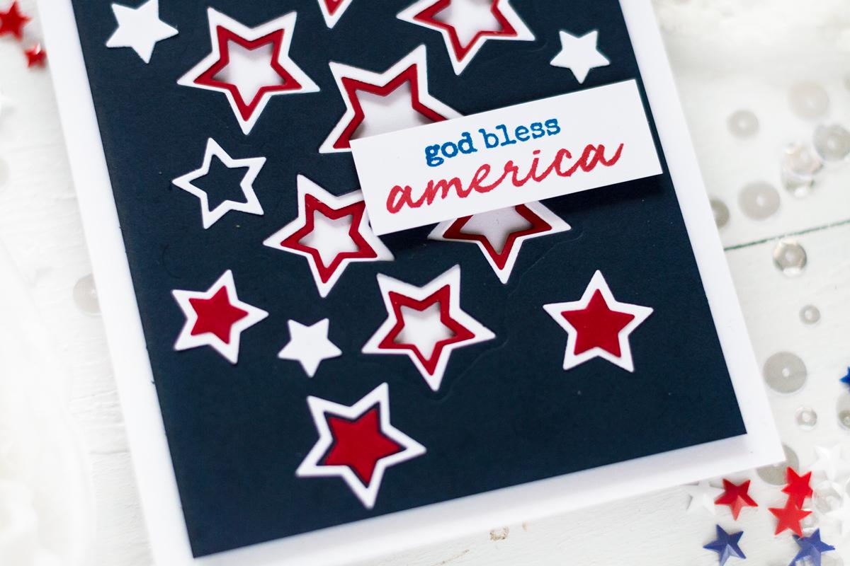 Patriotic Americana $th Of July Card. by Svitlana Shayevich