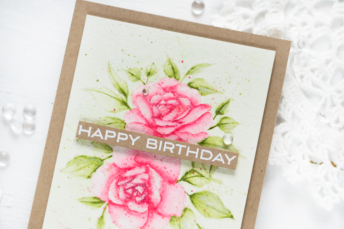Watercolor Roses Card. Card by Svitlana Shayevich