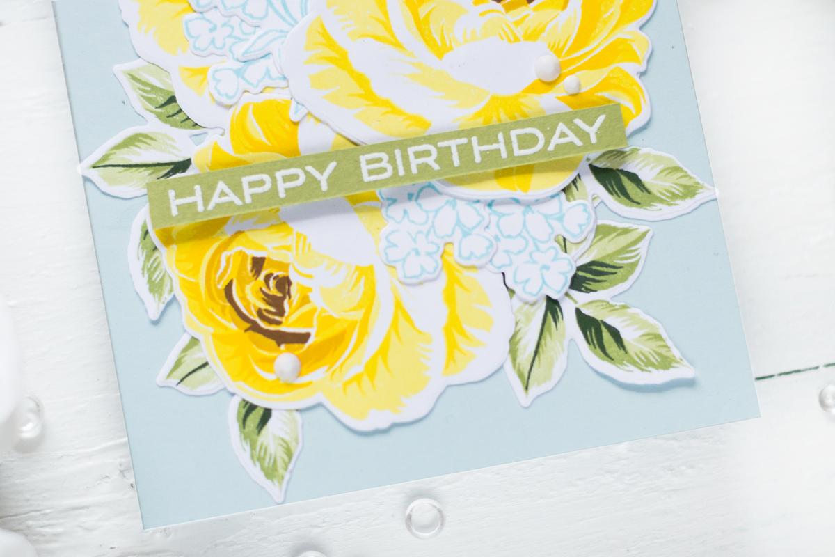 Yellow Roses Birthday Card. Card by Svitlana Shayevich