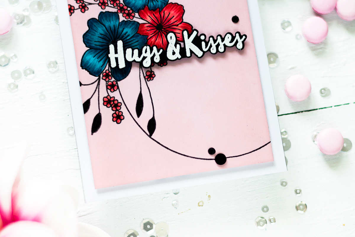 Easy way to create one layer design with non white background. Card by Svitlana Shayevich