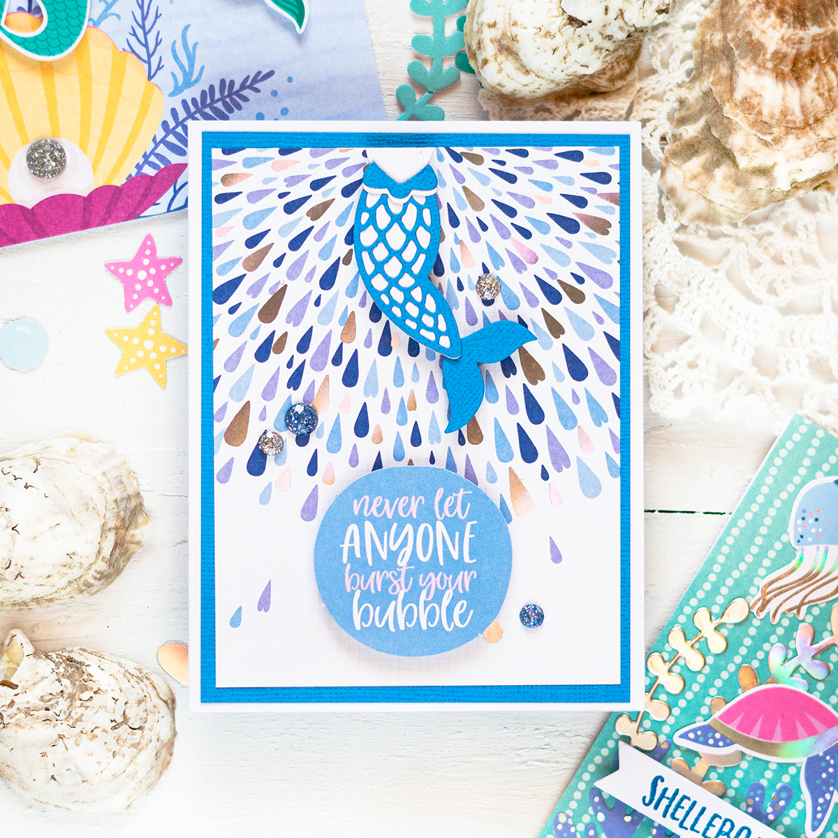 Spellbinders July Card Kit. Card by Svitlana Shayevich
