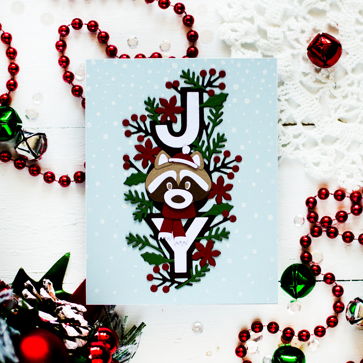 Handmade Die Cut Holiday Cards. Card by Svitlana Shayevich