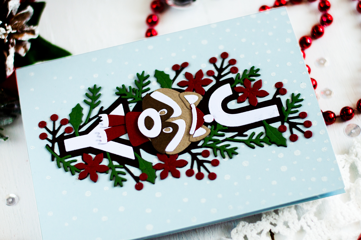 Christmas Raccoon Card. Card by Svitlana Shayevich