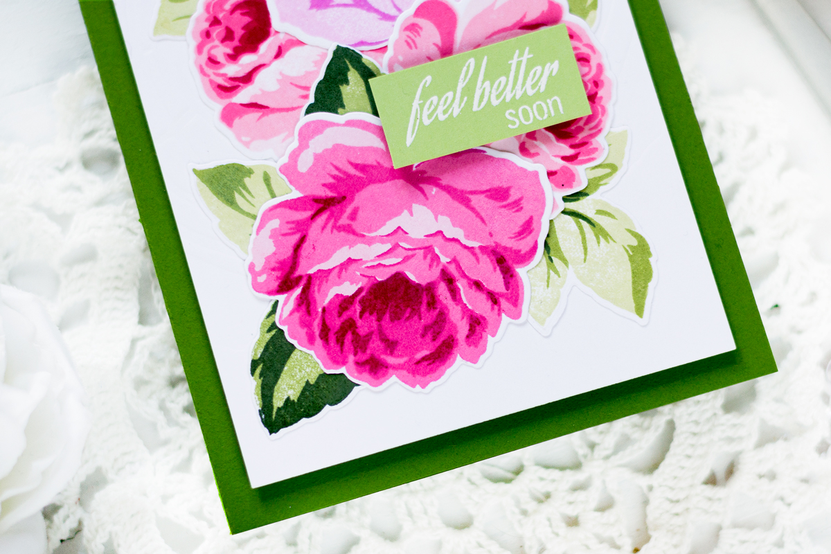 Get better roses card. Card by Svitlana Shayevich