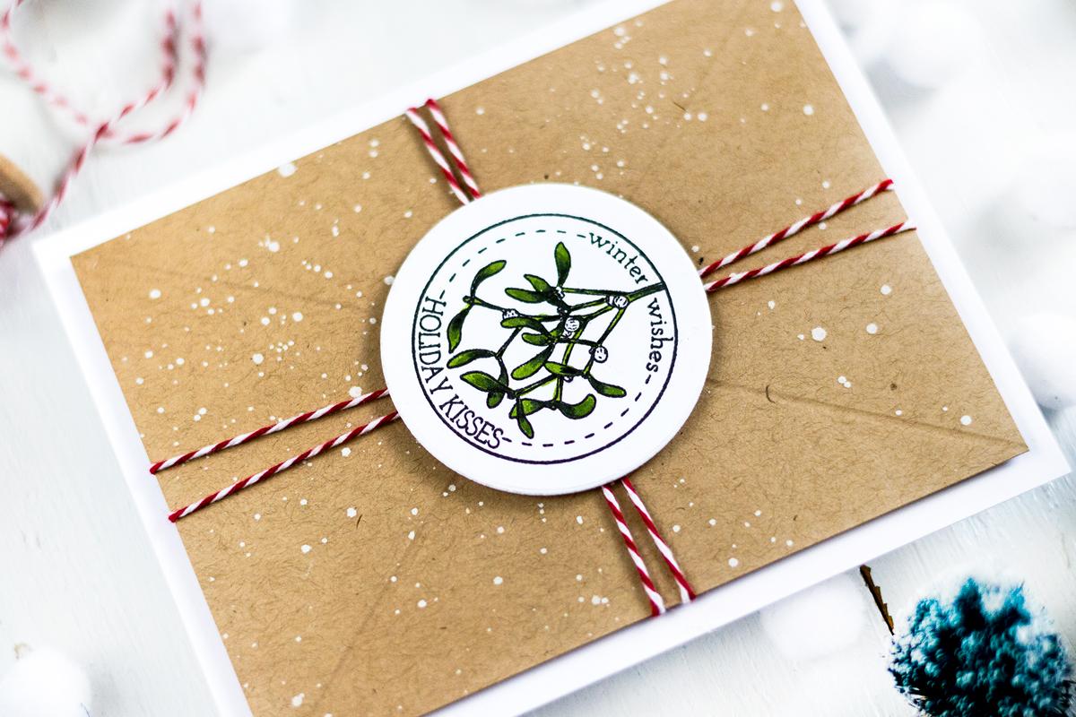 Kraft Envelope Christmas Card. Card by Svitlana Shayevich