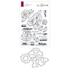Altenew Wavy Roses Stamp & Die Bundle