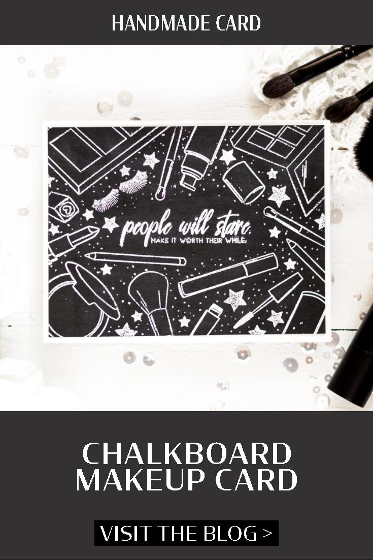 Chalkboard makeup card. Card by Svitlana Shayevich