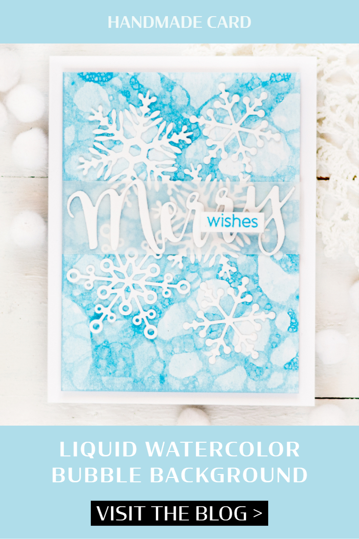 Liquid Watercolor Bubble Background. Card by Svitlana Shayevich
