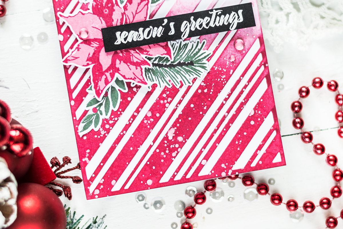 Candy Cane Stripe Background . Card by Svitlana Shayevich