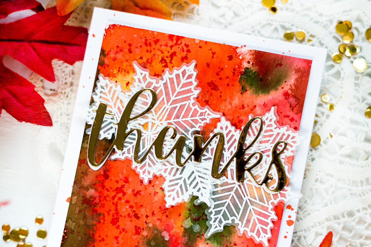 Liquid Watercolor Fall Background. Card by Svitlana Shayevich