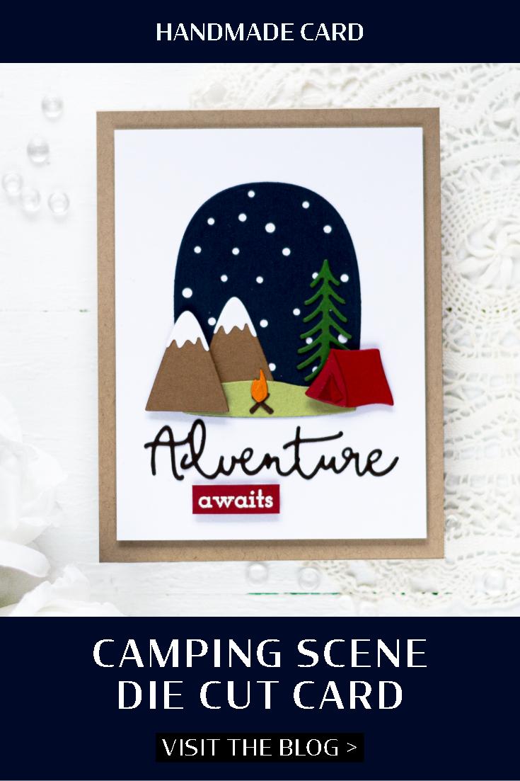 Camping Scene Die Cut Card. Card by Svitlana Shayevich