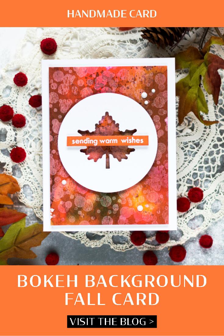 Fall Bokeh Card. Card by Svitlana Shayevich