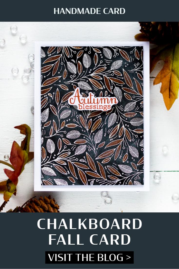 Chalkboard Fall Card. Card by Svitlana Shayevich