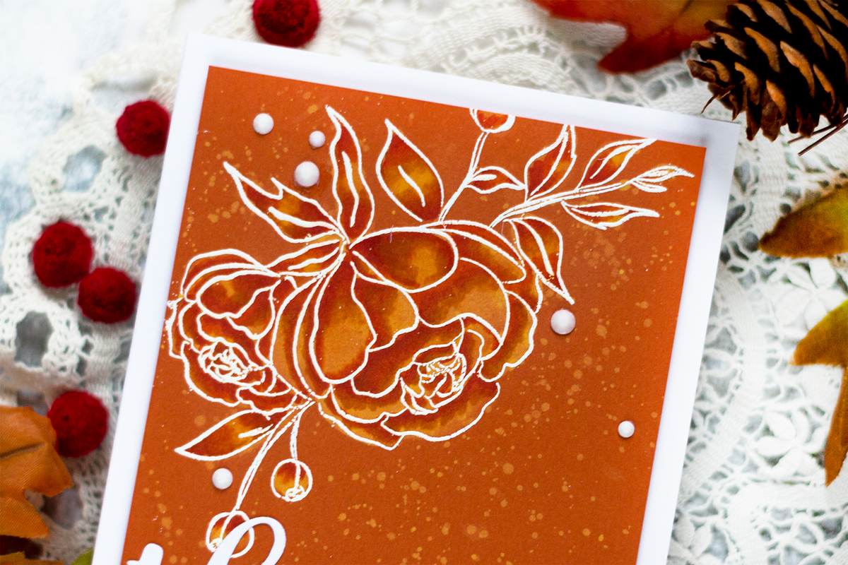 Bleached Color Cardstock. Card by Svitlana Shayevich