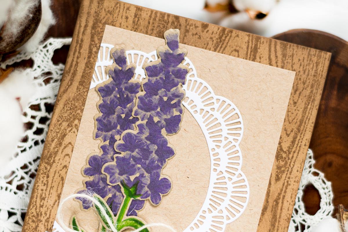 Rustic Lavender Birthday Card. Card by Svitlana Shayevich