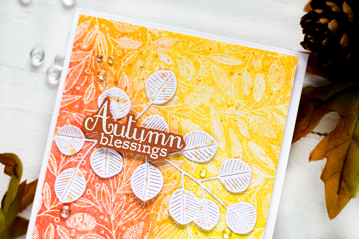 Bleached Oxides Fall Card. Card by Svitlana Shayevich
