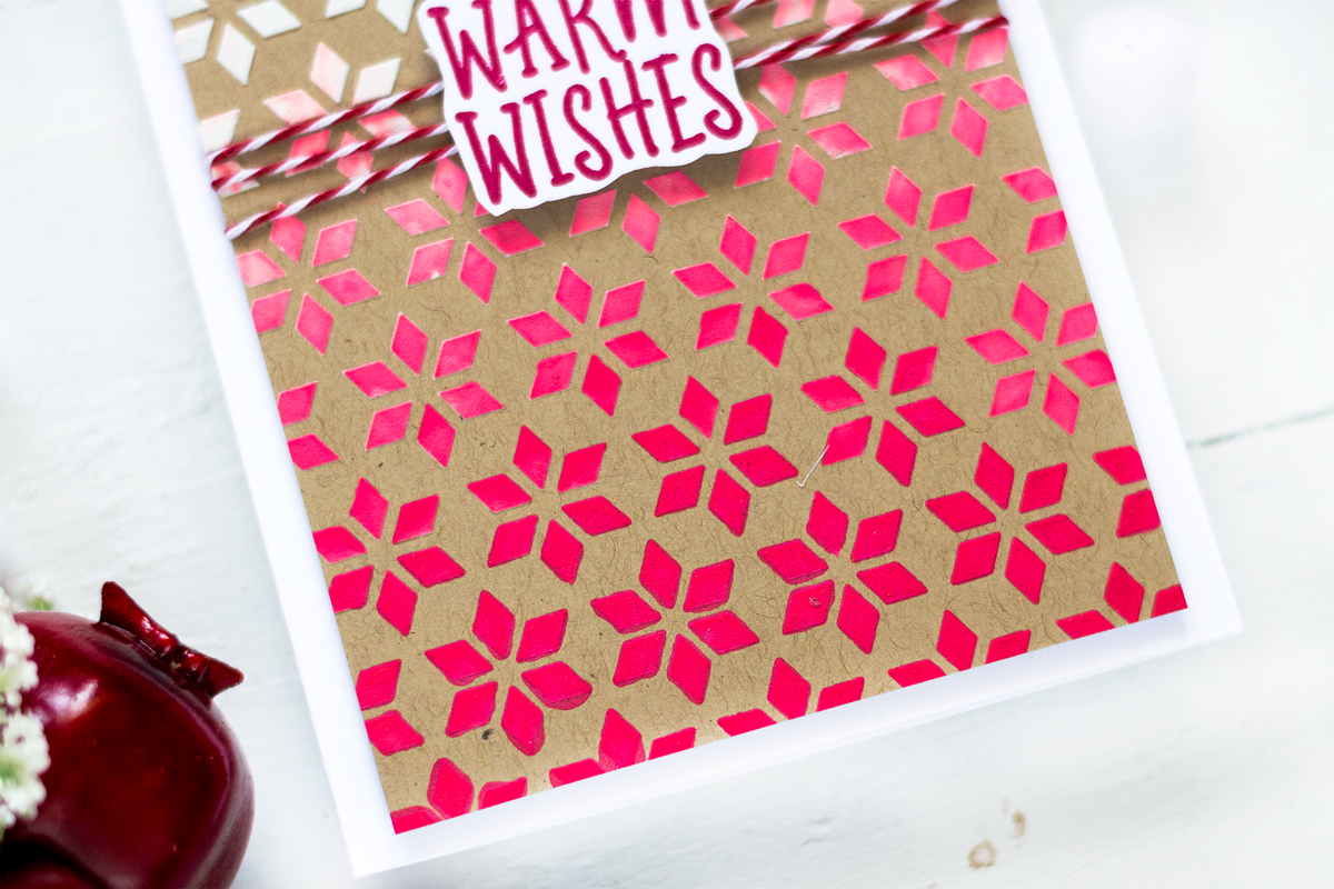 Scandinavian Snowflake Christmas Card. Card by Svitlana Shayevich