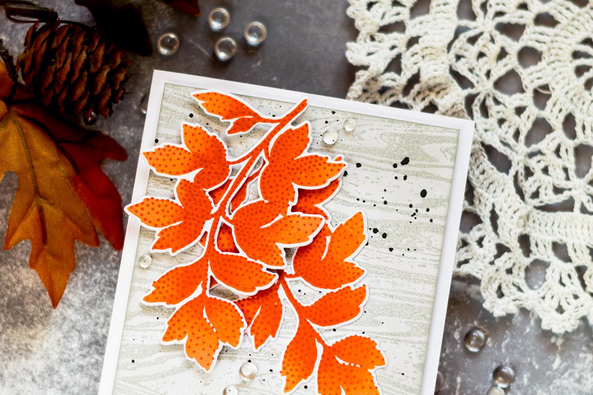 Fall Foliage Woodgrain Card. Card by Svitlana Shayevich