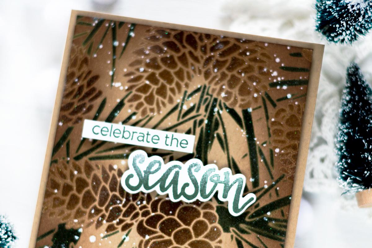 Vintage Pinecone Christmas Card. Card by Svitlana Shayevich