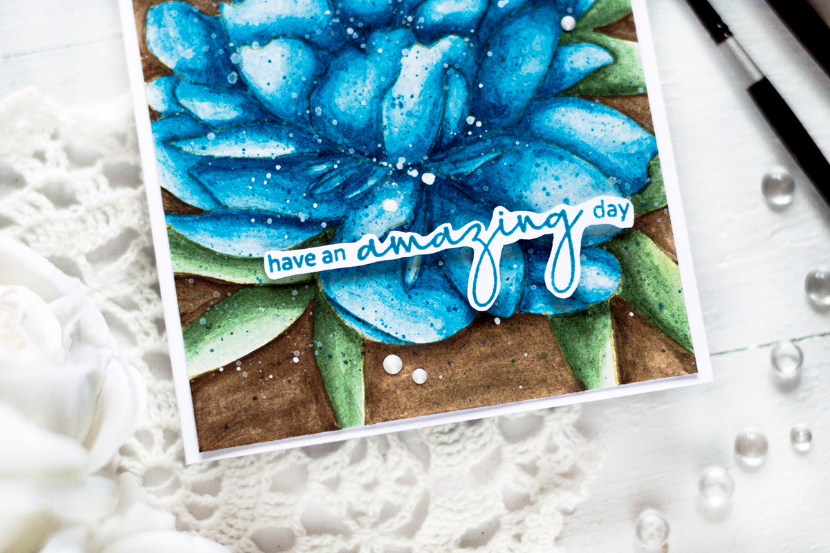 Watercolor Floral Card. Card by Svitlana Shayevich