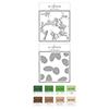 Altenew Classic Pine Stencil A&B & Mini Cubes Bundle