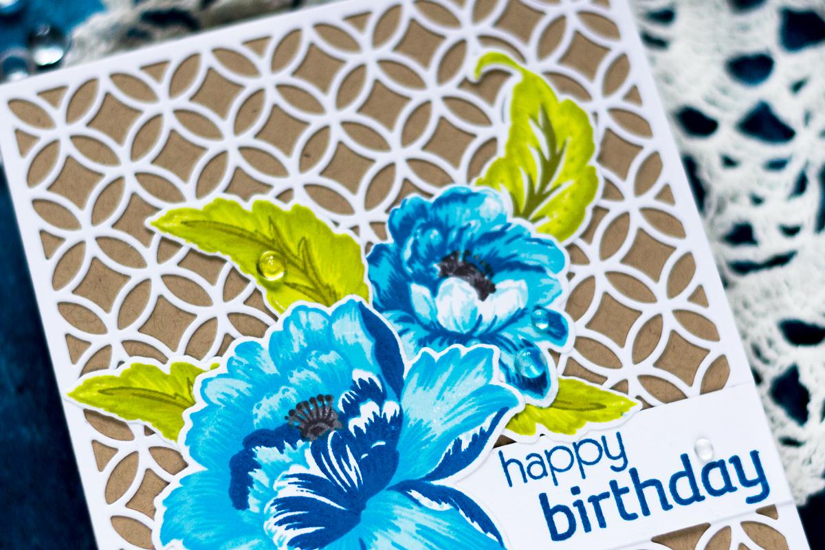 Elegant Floral Birthday Card. Card by Svitlana Shayevich